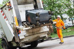 garbage truck worker