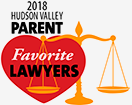 The hudson Valley Parent 2018 Best Lawyer Award.