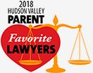 The hudson Valley Parent 2018 Best Lawyer Award.